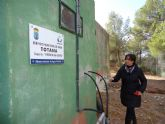 Realizan operaciones de mantenimiento en el dep�sito regulador de agua potable Virgen de las Huertas