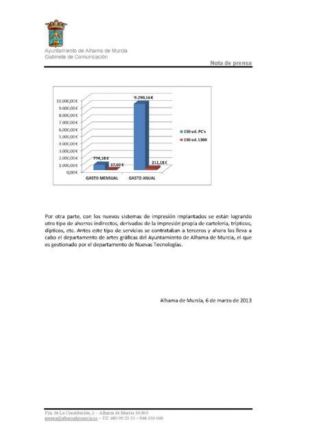 La gestión del Departamento de Nuevas Tecnologías logra un ahorro municipal de más de 60.000 euros anuales, Foto 2