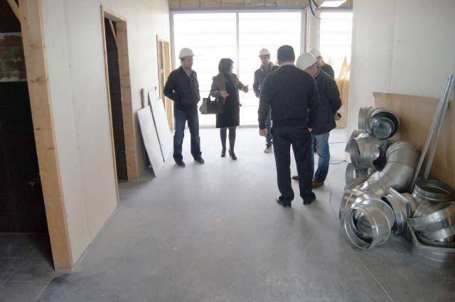 La alcaldesa visita el Centro de Salud Totana Sur, en la urbanización La Báscula, con el fin de conocer el desarrollo del estado de las obras - 3, Foto 3