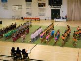 Más de cien deportistas participan en el interescuelas de gimnasia rítimca