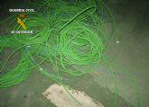 La Guardia Civil detiene a cuatro personas  por robos de cableado el�ctrico