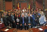 Alumnos de los ciclos formativos de Administración del Instituto Rambla de Nogalte de Puerto Lumbreras conocen el funcionamiento de la  Asamblea Regional