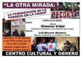 Charla Coloquio 'LA OTRA MIRADA' La feminización de la Pobreza en la Crisis