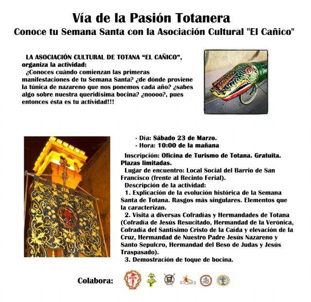 La Asociación Cultural de Totana El Cañico organiza este sábado una visita guiada por distintas hermandades - 1, Foto 1
