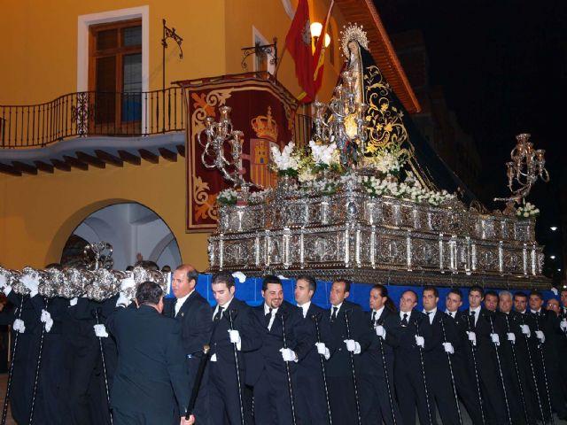 Sale la primera procesión a las calles de Alcantarilla, la del viernes de Dolores - 1, Foto 1