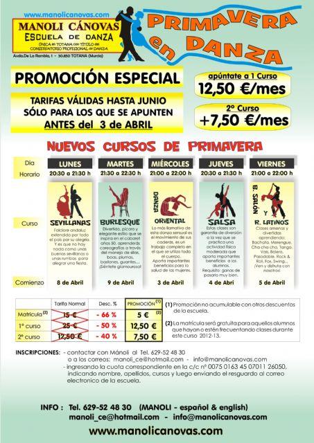 Cursos de Primavera Esc.de Danza Manoli Cánovas. Últimos días de la super promoción - 1, Foto 1