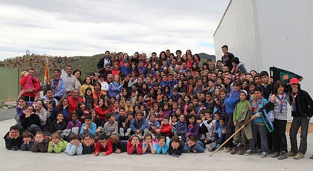 Cerca de 200 Scouts del grupo del Barrio del Carmen de Murcia celebran su campamento de primavera en Puerto Lumbreras - 1, Foto 1
