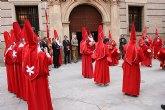 Valcárcel recibe en el Palacio de San Esteban a la convocatoria de la Archicofradía de la Sangre