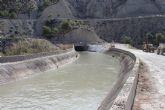 El agua vuelve a circular por el túnel de Ulea