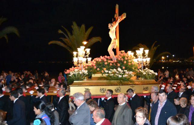 La oración y el silencio acompañan al Cristo del Mar Menor en el Vía Crucis del Miércoles Santo - 1, Foto 1