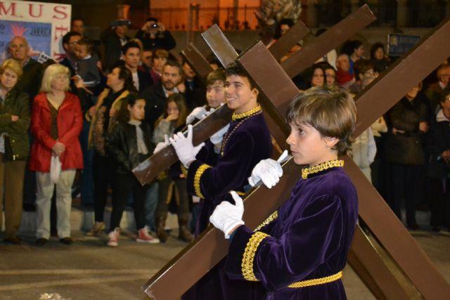 Devoción y fervor en el encuentro del Jueves Santo y el Vía Crucis del Cristo del Perdón - 1, Foto 1