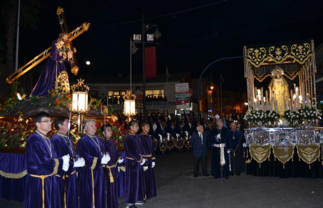 Devoción y fervor en el encuentro del Jueves Santo y el Vía Crucis del Cristo del Perdón - 2, Foto 2