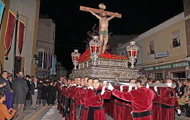Emotiva Procesión del Silencio con el Stmo. Cristo de la Fe en la noche de Jueves Santo 2013 - 1, Foto 1