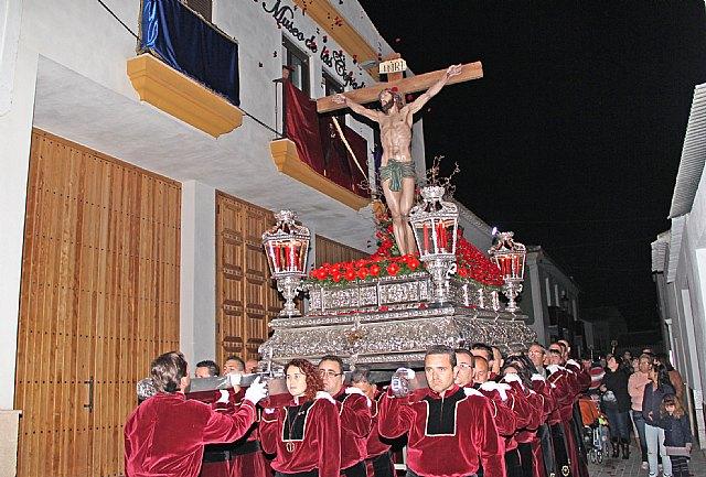 Emotiva Procesión del Silencio con el Stmo. Cristo de la Fe en la noche de Jueves Santo 2013 - 2, Foto 2
