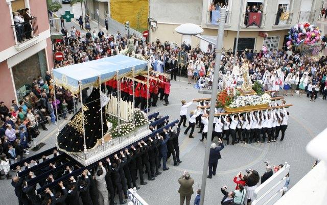 Puerto Lumbreras culmina su Semana Santa 2013 con la procesión del Encuentro - 2, Foto 2