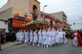 El Cristo Resucitado vence a la lluvia y cierra con su procesión la Semana Santa torreña