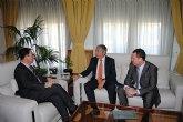 El delegado del Gobierno recibe a Pedro Vicente Gallut, nuevo director del Aeropuerto de Murcia-San Javier