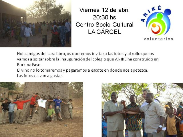 Exposición pública de ANIKE Voluntarios de la inauguración de un nuevo colegio en Burkina Faso, Foto 1