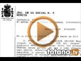 Rueda de prensa IU-verdes sobre la sentencia del Juzgado de lo Social Nº 5 de Murcia