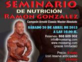 Ramón González, campeón Arnold Classic Master Absoluto, ofrecerá en Totana un Seminario de Nutrición