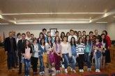 Recepeción institucional a alumnos rumanos que vienen a Torre-Pacheco a aprender sobre comida saludable y tradicional