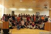 Recepción institucional a los alumnos del IES Prado Mayor y estudiantes de Montpellier que han participado en el intercambio hispano-francés