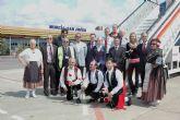 El proyecto europeo de Turismo Senior se estrena en el Mar Menor con la llegada del primer vuelo procedente de Praga con 180 personas