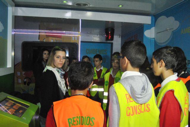 El aula móvil Escuela de Reciclaje recibe en San Javier a  más de 450 escolares en 3 días - 2, Foto 2