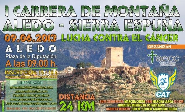 La I Carrera X Montaña Aledo - Sierra Espuña tendrá lugar el domingo 9 de junio, Foto 1