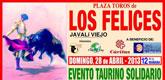 El evento taurino solidario en la Plaza de Toros de Los Felices tendrá lugar el próximo 1 de mayo a las 5 de la tarde
