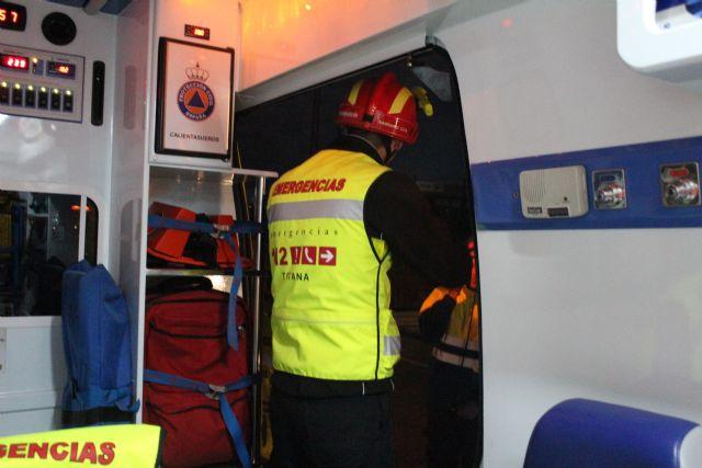 Protecci�n Civil de Totana participa en un simulacro en caso de accidente m�ltiple en el t�nel de la Autov�a de Lorca, Foto 1
