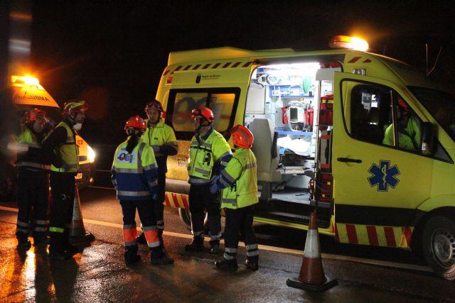 Protecci�n Civil de Totana participa en un simulacro en caso de accidente m�ltiple en el t�nel de la Autov�a de Lorca, Foto 3