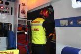 Protecci�n Civil de Totana participa en un simulacro en caso de accidente m�ltiple en el t�nel de la Autov�a de Lorca