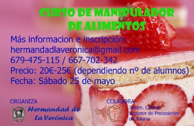 La Hermandad de La Ver�nica organiza un curso de manipulador de alimentos, Foto 1