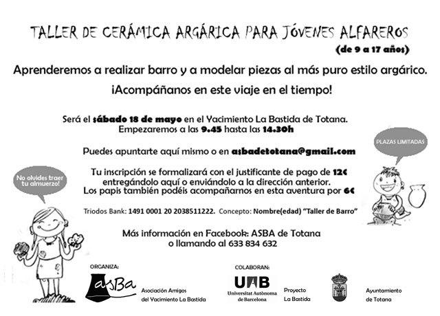 La Asociación de Amigos del Yacimiento Arqueológico La Bastida organiza un Taller de Cerámica Argárica para Jóvenes Alfareros, Foto 2