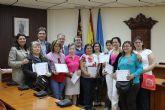 El Ayuntamiento de Alhama clausura un taller de costura impartido por Proyecto Abraham en colaboraci�n con la Consejer�a de Sanidad y Pol�tica Social