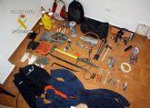 La Guardia Civil intercepta en Molina de Segura un vehículo con droga y herramientas para robar