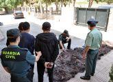 La Guardia Civil detiene a tres personas con cerca de media tonelada de cobre en Santomera