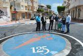Abre al tráfico la rotonda de la avenida Sandoval, en Santiago de la Ribera