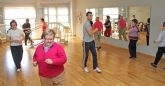 Más de un centenar de personas mayores practican gerontogimnasia en Puerto Lumbreras