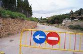 Se corta al tráfico el camino de Hondales en su intersección con el cauce del río Guadalentín