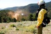 Efectivos del Plan Infomur y de la UME prueban su coordinaci�n con un ejercicio de extinci�n de dos incendios forestales cerca de Sierra Espuña