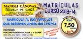 La Escuela de Danza Manoli Cánovas abre el periodo de inscripción para el curso 2013-2014