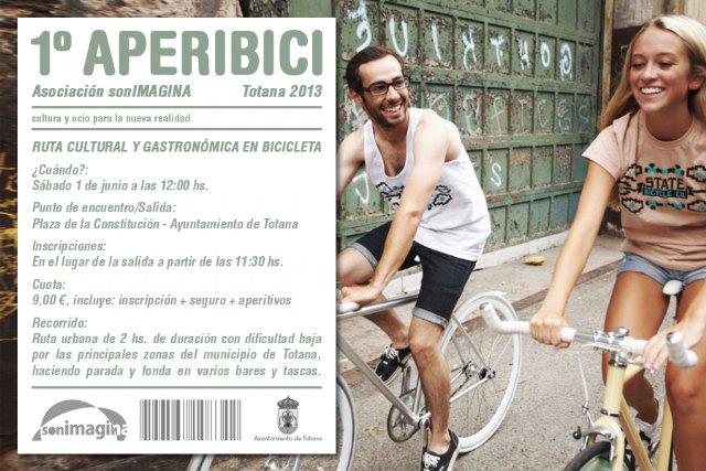 El 1º Aperibici, Ruta Cultural y Gastronómica en bicicleta por Totana, tendrá lugar finalmente este sábado día 1 de Junio, Foto 1