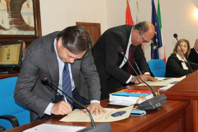 Bullas ratifica su hermanamiento con Bosa e intercambia experiencias con el resto de socios del Proyecto Vincult - 1, Foto 1