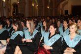 Acto de Imposición de Becas y Entrega de Diplomas a los alumnos del Grado en Educación Infantil de la UCAM