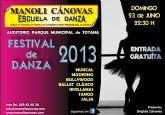 La Escuela de Danza Manoli Cánovas celebra su festival fin de curso el próximo 23 de junio