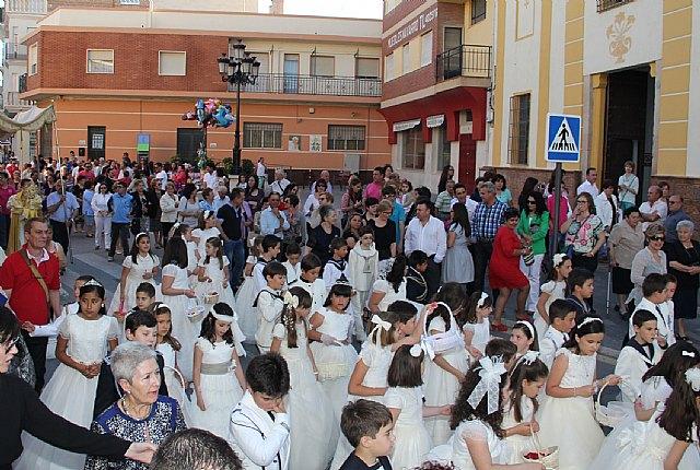 Los niños y niñas lumbrerenses que hicieron su Primera Comunión celebran procesión del Corpus 2013 - 2, Foto 2