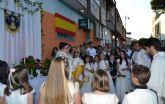 Las procesiones del Corpus Christi congregan a más de un centenar de niños de comunión