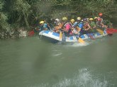 El club senderista de Totana organizó el pasado domingo 2 de Junio un descenso por el rio Segura en Rafting